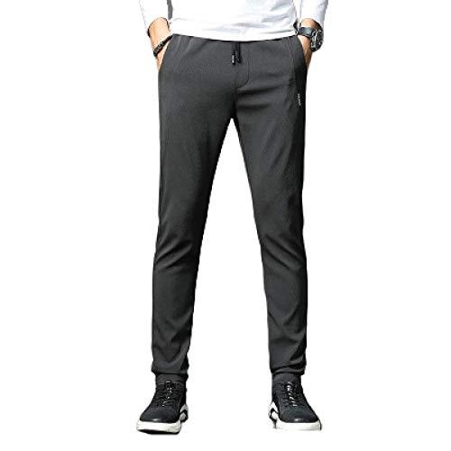 N/ A Hommes Pantalons Rembourrés Casual Lâche Hiver Pantalon Chaud Joggeurs Streetwear Taille Haute Pantalons de Survêtement Lâches