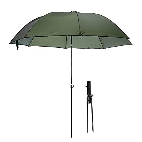 WJIN Paraguas al aire libre, plegable al aire libre, protección UV, lluvia, pesca, camping, picnic, paraguas con acción inclinable