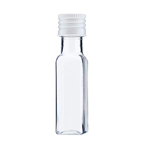 TAPAS & ENVASES RIOJA Mini Botellas de Licor minibotellas de Ginebra botellitas de plastico Pet para obsequios de Boda con tapon de Rosca de 20 Ml