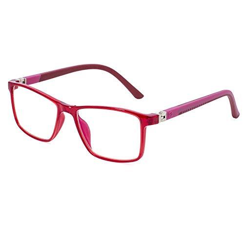Blue Light Blocking Glasses Child Optical Frame Boy Girl Eyeglasses Filter Reduces Digital Eye Computer Glasses-C3 vin rouge