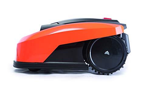 Yard Force YardForce X100i Mähroboter mit App-Steuerung - Selbstfahrender Rasenmäher Roboter mit Multizonen-Programm - Akku Rasenroboter für bis zu 1000 m² Rasen & 40% Steigung, 28 V, schwarz/orange - 2