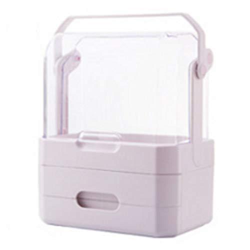 Schminktisch Mädchen Lieblingsgeschenk Schlafzimmer Home Schminktisch Kosmetik Aufbewahrungsbox Weiß Aufbewahrungsbox Mobile Mädchen Herz Mode Rack (Color : White, Size : 31X20X36CM)