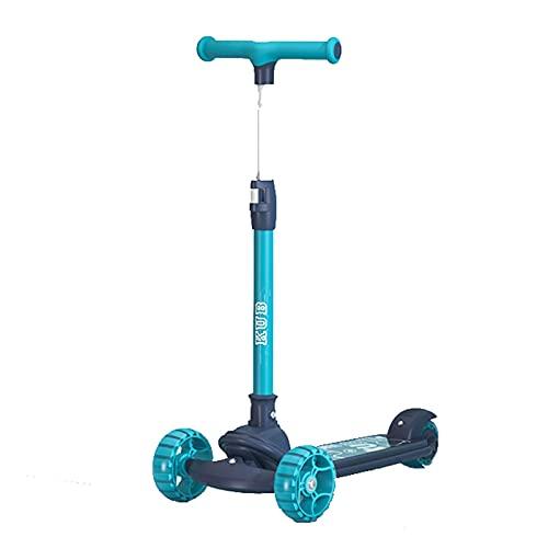 JIANGCJ Patinete para niños de más de 3 años de edad, con ruedas de poliuretano Flash y dirección inteligente por gravedad, color verde