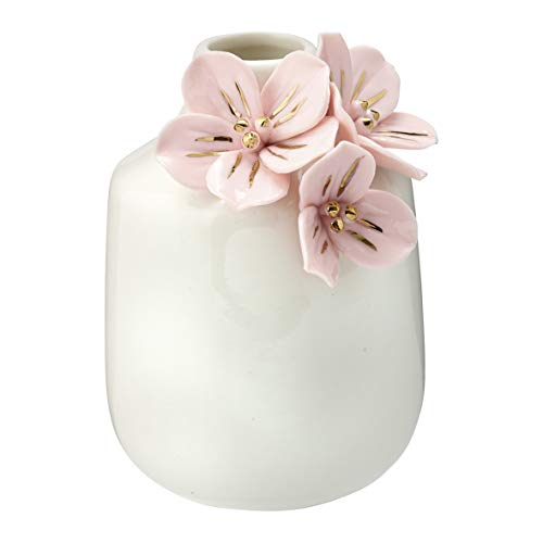 GreenGate Vase Anemone Pale Pink w/Gold small H:11,5cm