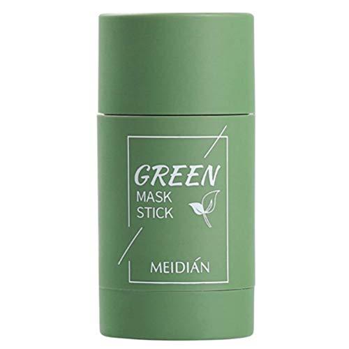Chilits Green Tea Purifying Clay Stick Mask, Blackhead Remover Masque, amélioration de lhydratation de la peau, réduire les défauts du visage, Hydrate et Protège pour une Peau Douce et Éclatante