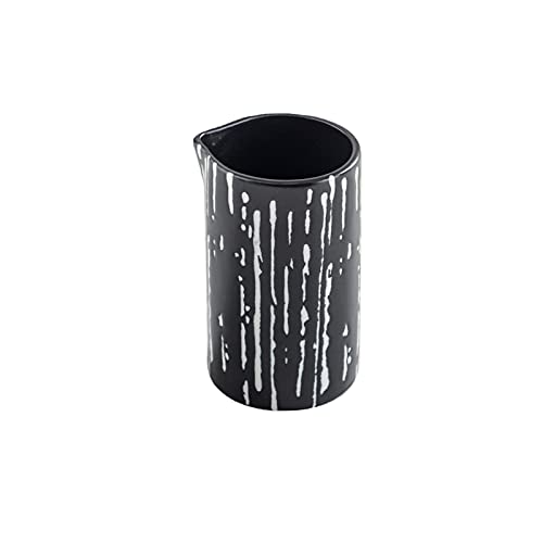 Jarra de crema de cerámica Jarra de leche con asa Juego de café de 200 ml Taza de leche pequeña Esta jarra se puede usar para aderezos de ensaladas de la casa de servicio de salsas (Color: Otros)