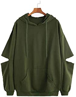 JUNEBERRY 100% Cotton Hooded Olive Green Sweatshirt for Women/Girls