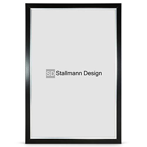 Stallmann Design Bilderrahmen My Frames 50x75 cm schwarz Rahmen Fuer Dina 4 und 60 andere Formate Fotorahmen Wechselrahmen aus Holz MDF mehrere Farben wählbar Frame für Foto oder Bilder