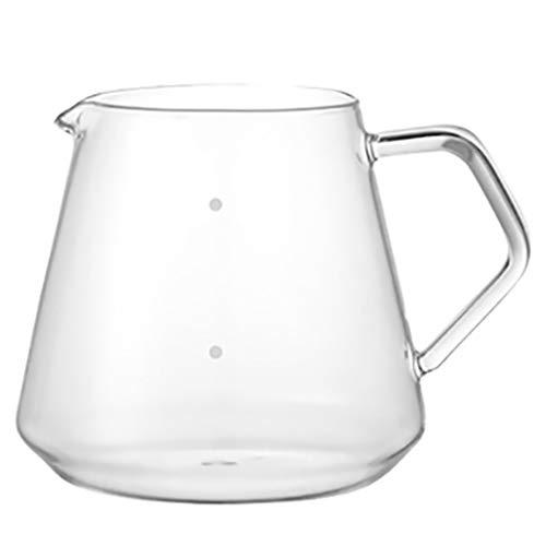 YQQ-Cafetière Coffee Pot Decanter/Carafe Black Regular - Nouveau Verre Design Forme - Poignée Ergonomique - 4-6 Capacité Coupe