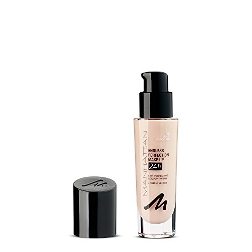 Manhattan Endless Perfection Make-up, Langanhaltende flüssig Foundation mit hoher Deckkraft, Farbe Light Porcelain 56, 1 x 30ml