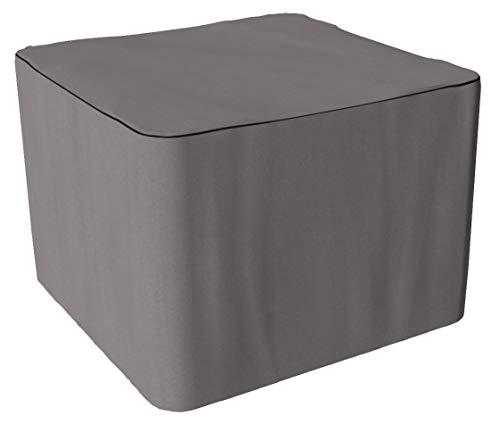 SORARA Housse de Protection Hydrofuge pour Salon de Jardin Table Ronde et Chaise | Gris | 130 x 130 x 90 cm