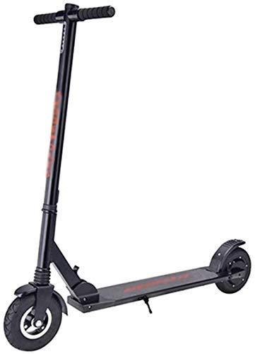 FHDFH Scooter Plegable, Scooter Adulto corredero Deportivo portátil Fuera de Carretera para niños eléctrico Plegable (Color: Negro)