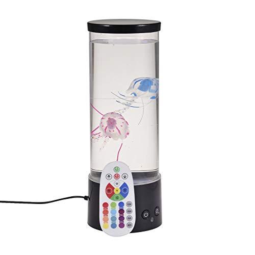 RC medusas tanque lámpara de mesa con 16 color cambiante luz regalo para el hogar Deco color cambiante noche lámpara