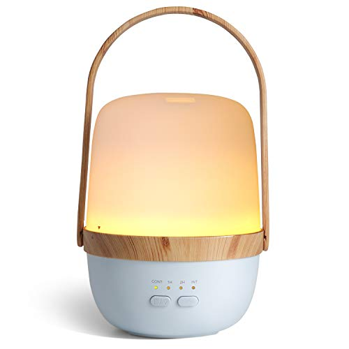 Wireless Rechargeable Diffusers for Essential Oils, ARVIDSSON Portable Essential Oil Diffuser, Ultrasonic Aromatherapy Oil Diffuser with Night Light & Whisper-quiet