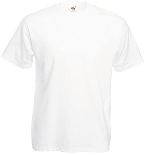 Fruit of the Loom Herren T-Shirt weiß weiß X-Large