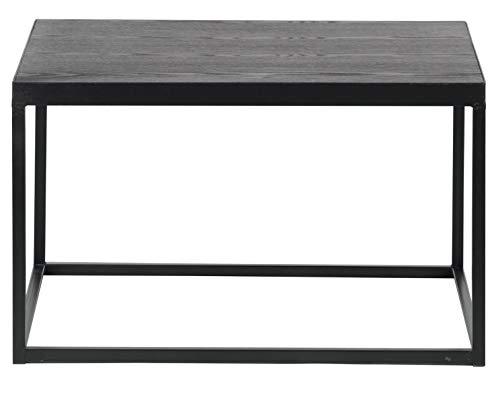 PEGANE Table Basse en Bois Coloris Noir - Dim : H38 x L60 x P60 cm