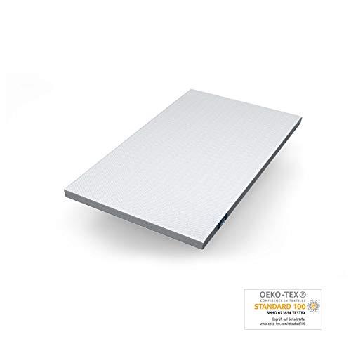 Genius Eazzzy Topper (120 x 200 x 7 cm) als Matratzenauflage für Matratzen & Boxspringbetten | Viskoelastischer Matratzentopper für Allergiker (weitere Größen erhältlich)