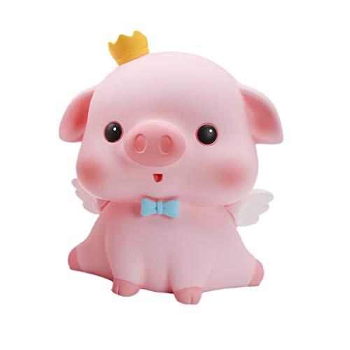 ZRL Saving Bank Hogar Decoración para el hogar Dibujos Animados Animal Pig Forma de diseño Moneda Banco Money Guardar Banco Banco Banco Cultivos Grandes Capacidad Decoración (Color : Pink)