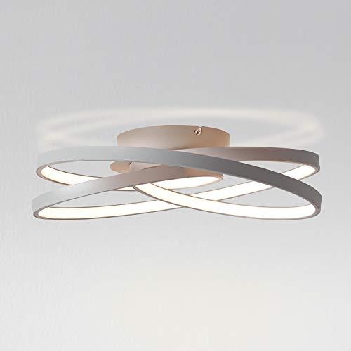 LED Deckenleuchte Ø40cm, 42 Watt, 3000 Kelvin aus Metall/Kunststoff in grau