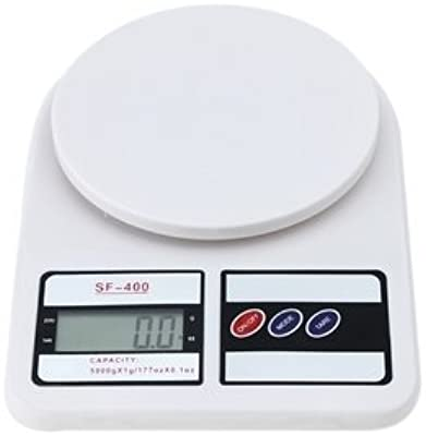 Zollyss Electronic Kitchen Digital Weighing Scale 10 Kg Weight Measure Liquids Flour,White