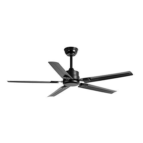 Ventilador de techo silencioso, ventilador de techo de conversión de frecuencia con control remoto, aspa de hierro de 5 aspas, velocidad del viento ajustable de 6 velocidades/A / 132cm
