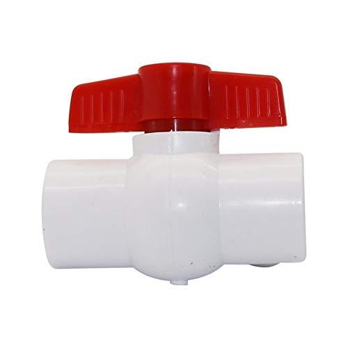 PVC grifo Conector 20/25 / 32mm Instalación de tuberías conector de la válvula de bola de PVC del tubo de agua duradero Agricultura Jardín de riego por goteo guarniciones 1 Pc