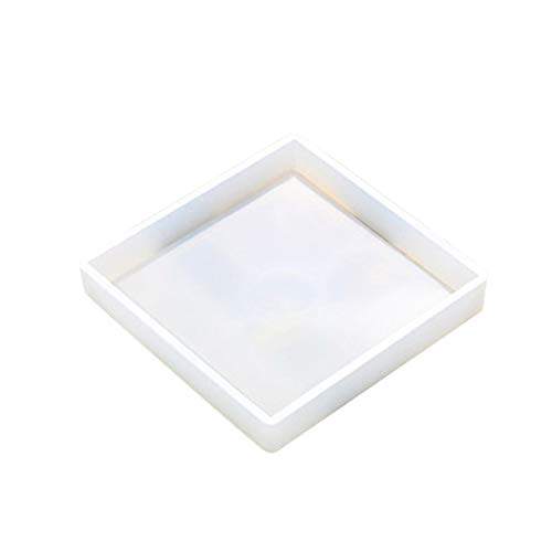 super1798 Tea Saucer Silicone Mold Flower Pot Tray Mould DIY Tool Square