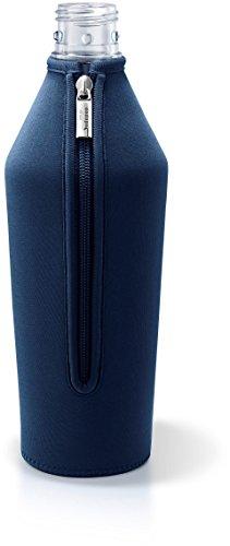 Sodapop BOTTLE-SHIRT SLIM - Neoprenschutzhülle für Wassersprudler Glaskaraffe, blue