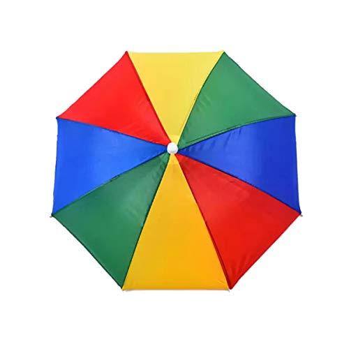 Rainpopson Hat Umbrella for Kid Men and Women (Multicolour)