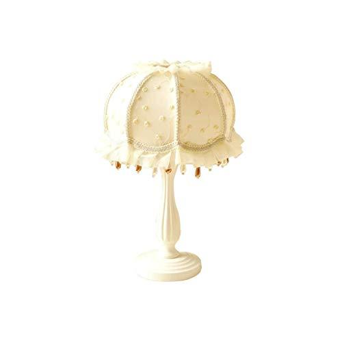 ZLMAY Lámpara de luz de Estilo Europeo lámpara de Mesa Princesa Dormitorio Cama del jardín Coreano Simple lámpara de Escritorio