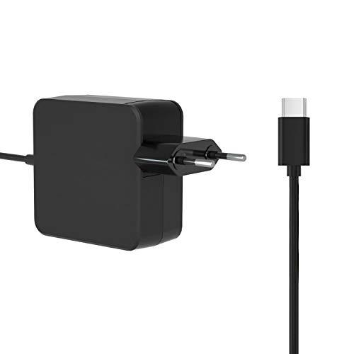 Cargador de 45 W USB C para Chromebook Lenovo C330 S330 C340 S340 S345 C340-11 S340-14 C630 X1 Yoga 2nd 3rd 4th Gen X1 Tablet 2nd 3rd Gen p43s p53s cable adaptador de alimentación