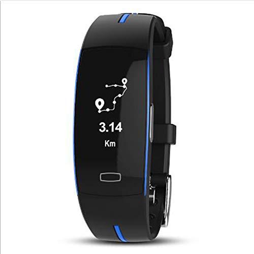 Impermeable Reloj Inteligente,Podómetro Reloj Dormir Pulsera De Actividad Pressione Sanguigna Oxígeno En Sangre Pulsómetros Monitor Smart Watche Correa Abs Azul 0.96inch