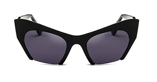 Gafas De Sol Semi-Sin Montura Más Nuevas para Mujer, Gafas De Sol Transparentes De Diseñador De Marca para Mujer, Gafas De Sol De Moda, Negro Vintage