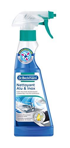 Dr. Beckmann - Nettoyant Alu & Inox 250 ml - Pour une brillance sans traces des surfaces Alu, Inox & Chrome - Elimine efficacement graisse et saleté
