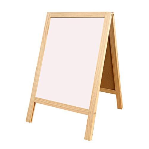Heallily 1 pc Tableau Tableau Debout chevalet en Bois Recto-Verso Tableau Blanc effaçable à Sec Tableau magnétique Double Face Bureau Blanc Tableau écrit pour Bureau école à la Maison