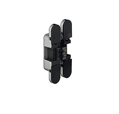 JUVA deurscharnier accessoires scharnier universele vervangingsdeurband monteren - H1962 | 180° | alleen voor draaideurtoepassingen | staal/kunststof zwart | 1 stuk