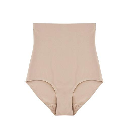 KPPTO Venta al por mayor a tope Súper Estiramiento de la panza de control de las bragas de cintura alta levantador Shapers mujeres que adelgaza la ropa interior Fajas ( color : Apricot , Talla : M )