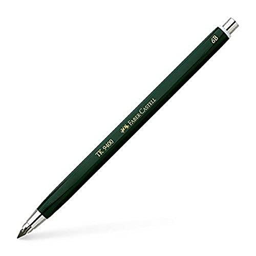 Faber-Castell 139406 - Fallminenstift TK 9400, Minenstärke: 3,15 mm, Härtegrad: 6B, Schaftfarbe: grün