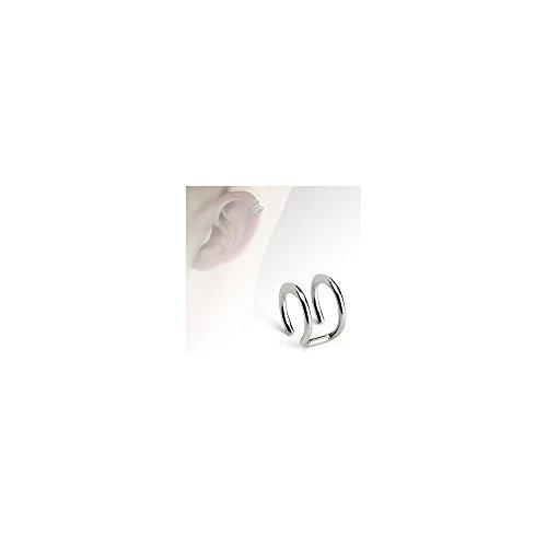 "Doble cierre anillo 316L acero quirúrgico Fake Cartílago de la oreja non-Piercing ""para Samsung Galaxy S3MINI i8190"