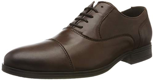 JACK & JONES Jfwdonald Leather Noos, Zapatos de Cordones Derby para Hombre, Marrón(Cognac Cognac), 40 EU