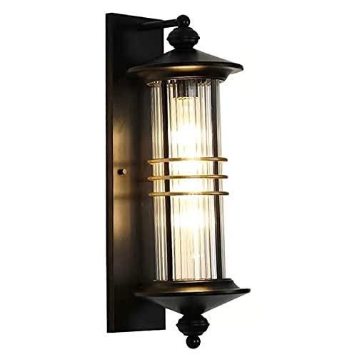 YXLMAONY Lámpara de Pared de aleación de Aluminio con Pantalla de Vidrio, lámpara de Pared Impermeable para iluminación de jardín, Patio, balcón, Villa, Hotel, decoración de Pared Exterior, lámparas