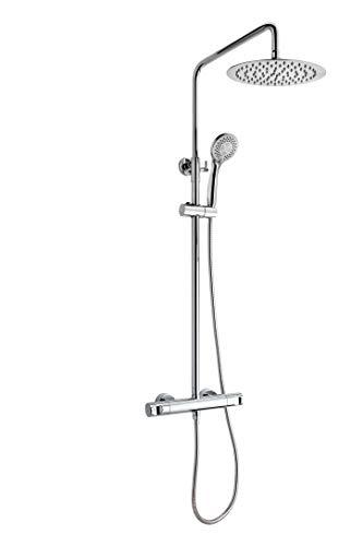 Strohm TEKA - Columna de ducha con grifo Dual Control MANACOR con SafeTouch, set de ducha y rociador.