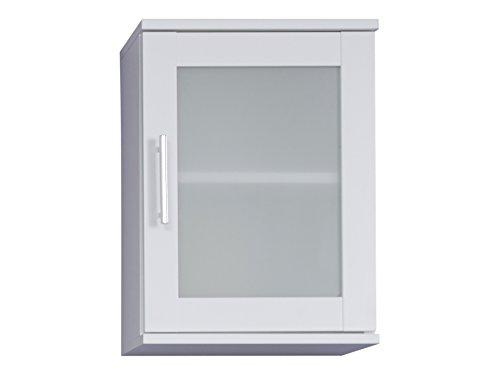 Trendteam Bad Hängeschrank Weiß Melamin, Glas Satiniert, BxHxT 35x48x22 cm Arredamenti, Legno, Bianco, Taglia unica