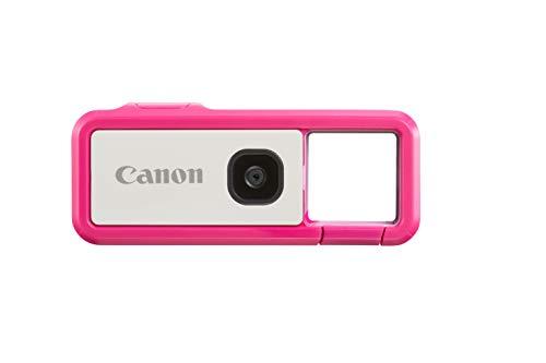 Canon IVY REC Digitalkamera Outdoor Activity Kamera (Video Full HD, 60 B/s, 13 MP, F2.2 Blende, Bluetooth, WLAN, via Canon Mini App mit Mobilgerät verbinden, leicht, wasserdicht, stoßfest), pink