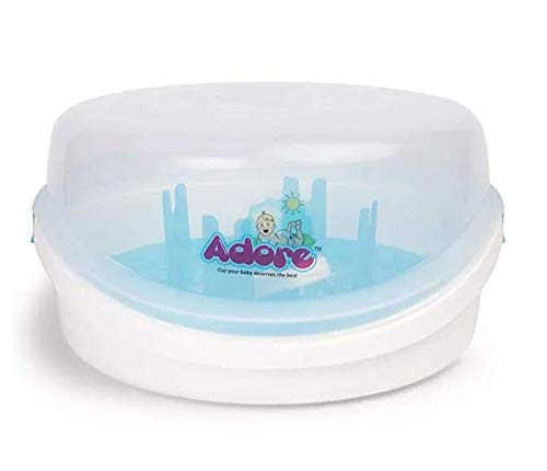 Adore Baby Bottle Microwave Steam Sterilizer (Clear)