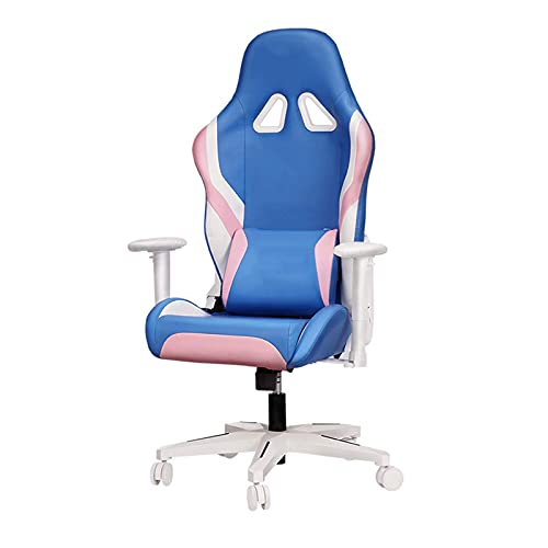 YUJIA Ergonomic Gaming Chair, Office Chair Reclining Racing Chair Leather Desk Chair High Back Swivel Task Chair