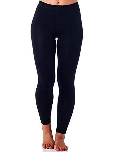 Gold Medal Ladies Fashion Leggings - Regular & Plus Size (L/XL, 2-Pack Black)