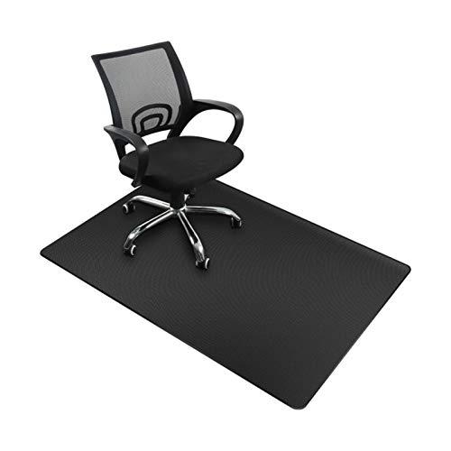 HCHL Stuhl Mat 90 x 140 cm Stuhlmatte, transparent klare PVC-Bodenschutz, Mehrzweck-PVC-Bodenschutz mit Lippe für Zuhause Schutzboden