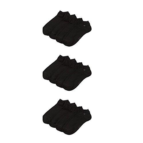 TOM TAILOR Unisex - 12 Paar ideale Sneakersocken mit ANTI-LOCH-Garantie (Schwarz, 43-46)