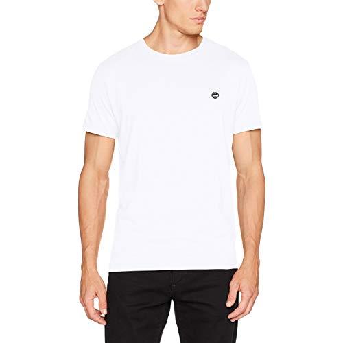 Timberland Hombre Camiseta Dunstan River Slim, Blanco, XXX-Large